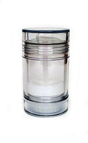 Empty Deodorant Containers Clear Plastic Twist up Bottom fill 2 0 Oz 13 - Push Up Deodorant Container (5 Bottle Pack) <br> Free Shipping